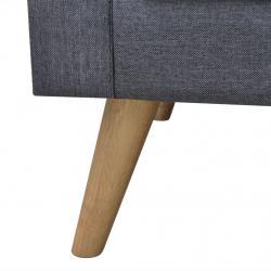 Conjunto de móveis de jardim de 4 peças vime com 1 mesa de centro 1 sofá duplo e 2 cadeiras Almofadas acolchoadas para pátio ter