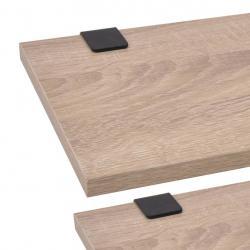 Conjunto de móveis de jardim 3 peças Conjunto de 2 cadeiras 58x54x73 cm 1 Mesa Ø60x70 cm para varanda Aço Castanho - Imagen 1