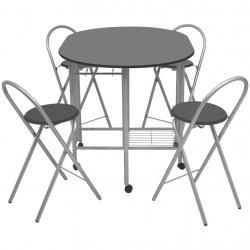 Braseiro externo Ø76 cm 2 em 1 com grade de cozinha Grelha de churrasco Póquer de fogo com tampa de malha preto - Imagen 1